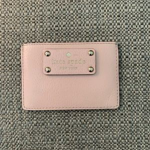 Kate spade blush pink card holder